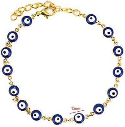 Gold Blue Evil Eye Bracelet-Starchenie