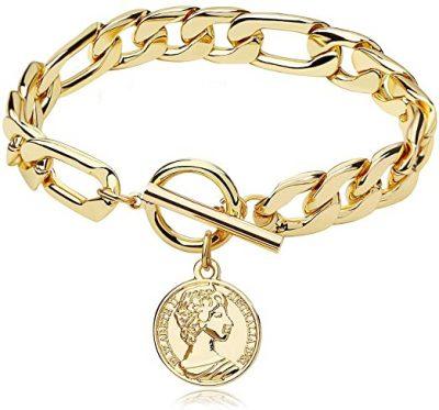 Gold Chain Bracelet-Famarine