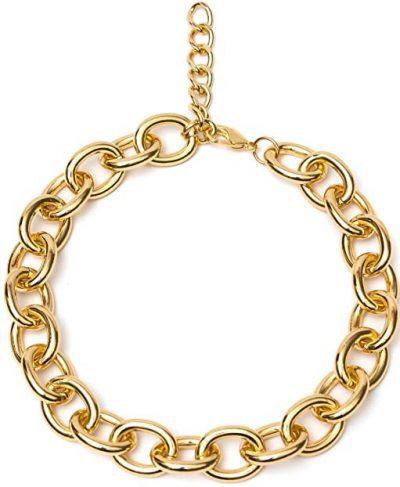 Gold Chunky Chain Necklace-MoCeYa