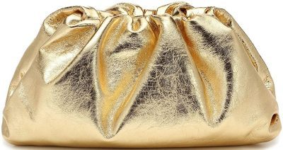 Gold Cloud Shape Gathered Handbag-Get The Looks