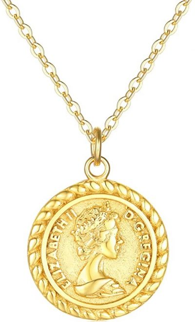 Gold Coin Necklace-VACRONA