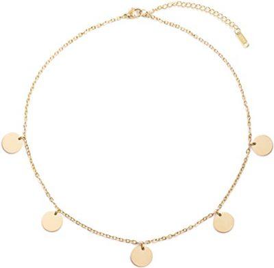 Gold Discs Pendants Necklace-Happiness Boutique