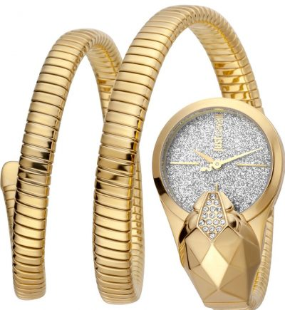 Gold Glame Time Glitter Snake Watch