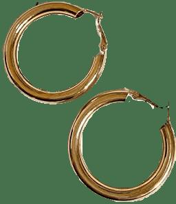 Gold Hoop Earrings-Doubnine