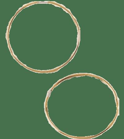 Gold Kassidy Metal Hoops-Francesca's