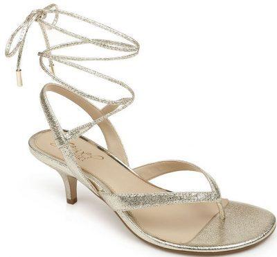Gold Nolin Dress Thong Sandals
