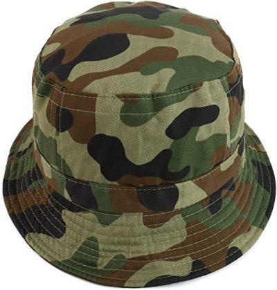 Green Camo Cotton Bucket Hat-Armycrew