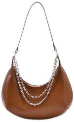 Half-Moon Layered Chain Shoulder Bag-Zaful