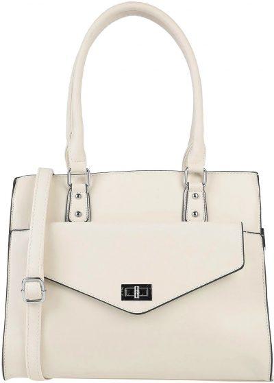 Ivory Leather Handbag-Maury