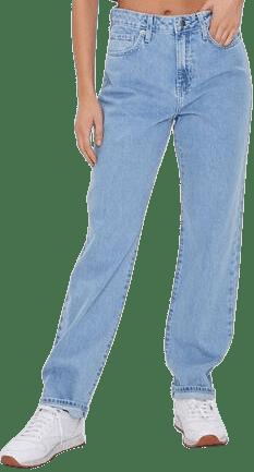 Light Denim High-Rise Straight-Leg Jeans