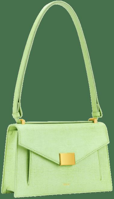 Lime Green Lizard Lilian Bag-JW PEI