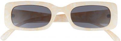 Milky Nude Rectangle Sunglasses-BP.