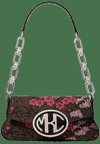 Monogramme Mini Floral Brocade Shoulder Bag-Michael Kors