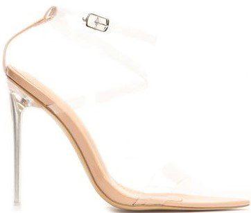 Nude Patent Coming Through Heeled Sandal-Fashion Nova