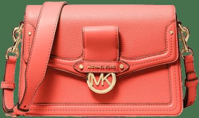 Pink Grapefruit Jessie Medium Pebbled Leather Shoulder Bag-Michael Kors