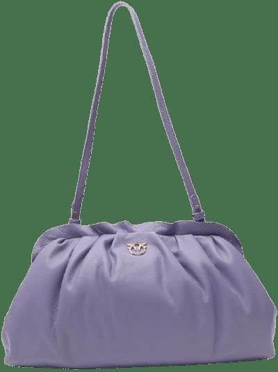 Purple Maxi Chain Clutch Bag-Pinko