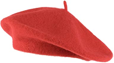 Red Wool Blend French Beret-Hat To Socks