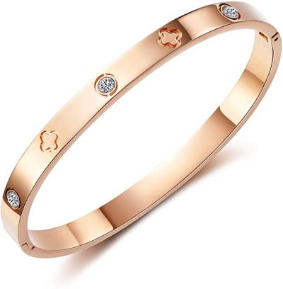 Rose Gold Love Bracelet Bangle