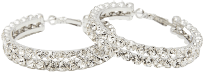 Silver Elegant Era Rhinestone Hoops-Dolls Kill