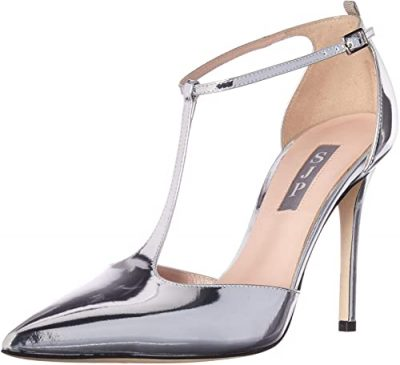 Silver Taylor Closed Toe T-Strap Pump-SJP By Sarah Jessica Parker