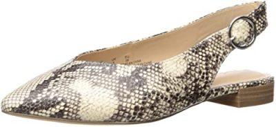 Snake Print Tara Slingblack Ballet Flat-The Drop