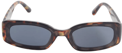 Tortoise Grace Plastic Rectangle Sunglasses