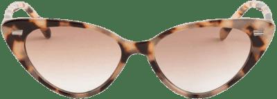 Tortoise Kaycie Slim Cat Eye Sunglasses-Francesca's