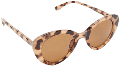 Tortoise Reese Plastic Round Sunglasses-Urban Outfitters