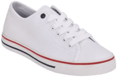 White Active Canvas Sneakers-Tommy Hilfiger