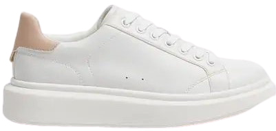 White Chunky Sole Sneakers-Pull&Bear