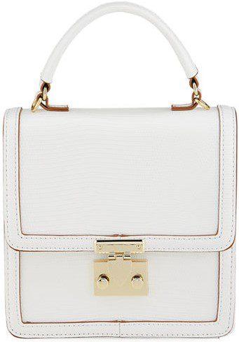 White Derby Flap Box Crossbody Bag-Neiman Marcus