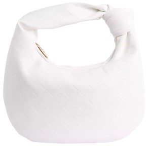 White Faux Leather Monty Slouchy Shoulder Bag-Ego