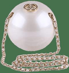 White Mini Pearl Evening Bag-Ansan