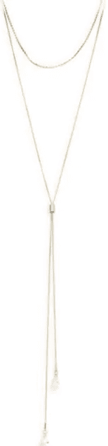 Basic Program Cubic Zirconia Double Y-Necklace-Ava & Aiden
