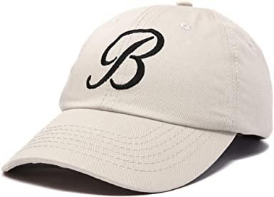 Beige Monogram Baseball Cap-DALIX