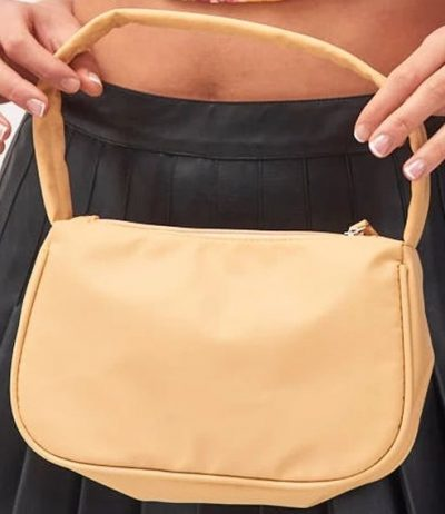 Beige Nylon Shoulder Bag-Jaded London
