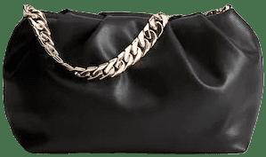 Black Chain Puffed Bag-Mango