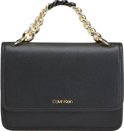 Black Chain Top Handle Crossbody Bag