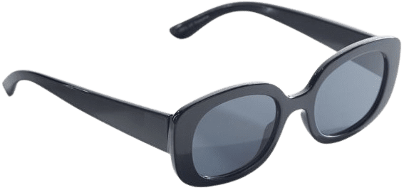 Black Claro Chunky Rectangle Sunglasses-Urban Outfitters