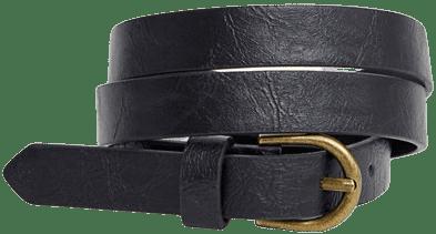 Black Curved Buckle Belt