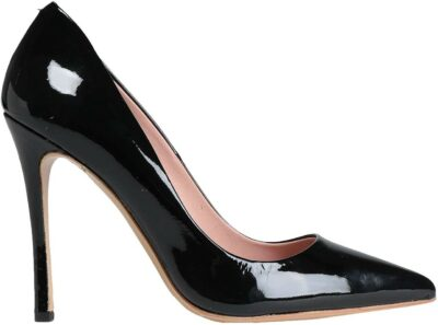 Black Patent-Effect Leather Pumps-8 by Yoox