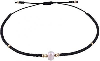 Black Pearl Friendship Bracelet-KELITCH