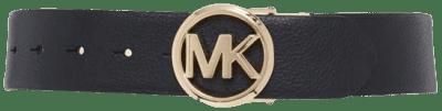 Black Reversible Pebble Leather Belt-Michael Kors