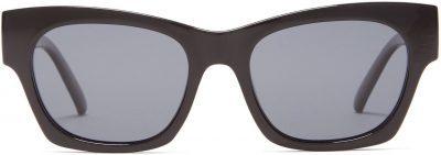 Black Rocky Square Acetate Sunglasses-Le Specs