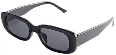 Black Sabrina Rectangle Sunglasses-Urban Outfitters