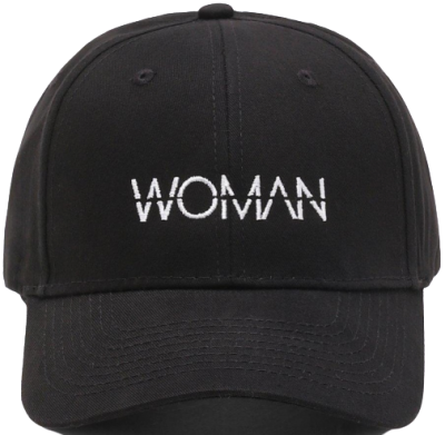 Black Slogan Embroidered Cap-Boohoo