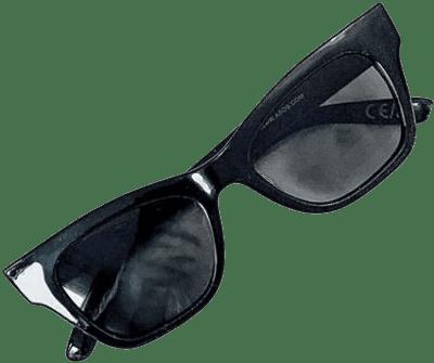 Black Square Cat Eye Sunglasses-Asos Design