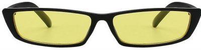 Black and Yellow Neptune Free Small Rectangle Sunglasses