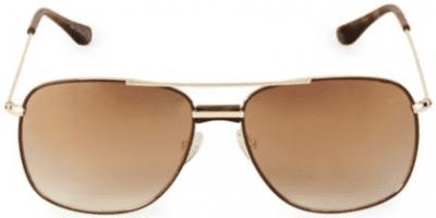 Brown 58MM Aviator Square Sunglasses-Sam Edelman