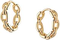 Gold Huuggie Hoop Earrings